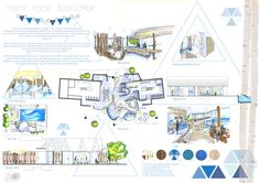 Fitzroy Pool Redevelopment Presentation Board, Taylor Black, Diploma of Interior Design & Decoration  #RMIT #CreativeFest