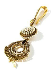 Bindhani gold toned n white juda