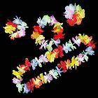 Hawaiian Luau Beach Party Flower Lei Fancy Dress Necklace Hula Garland Bracelet