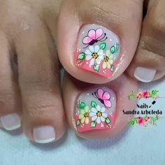 Pedicure, Nail Colors, Nail Designs, Hair Beauty, Nail Art, Nails, Floral, Thalia, Long Hairstyles