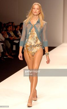 Models Wearing Ronit Zilkha during London Fashion Week Spring 2005 - Ronit Zilkha - Runway and Front Row at BFC Tent in London, Great Britain.