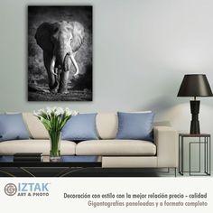 Cuadro de elefante en blanco y negro Furniture, Home Decor, Impressionism, Black And White, Art, Decoration Home, Room Decor, Home Furnishings, Home Interior Design