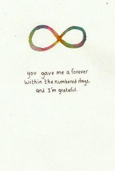 Forever I will.