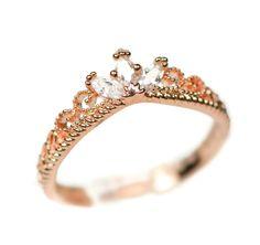 Rose Gold Rapunzel Inspired Delicate Crown Ring