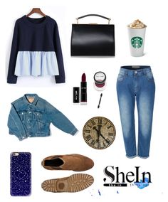 """""""shein"""" by anafilipafonseca2004 on Polyvore featuring LE3NO, Casetify and Balenciaga"""