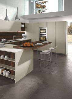 Wooden fitted #kitchen WAY by @Snaidero Cucine #wood