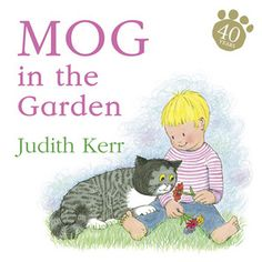 Mog and the little boy like the garden. They like the grass and the sun. There are things to eat in the garden and things to climb and even things to smell. They play all day until it starts to get dark. Mog can see in the dark and so she can keep playing but the little boy has to go back into the warm house.