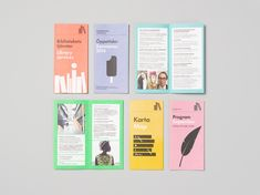 Folders for Gothenburg City Library