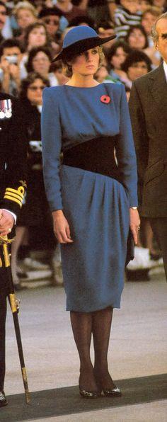 11 nov 1985 afternoon Princess Diana in Asrlington Virginia