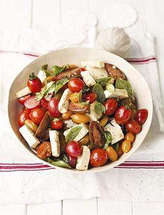 Salade met tomaat en feta