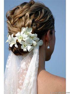 Beautiful hair with veil