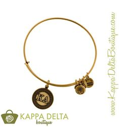 Get your wrist stack on point with the Kappa Delta Gold Alex and Ani bracelet!! Now available at KD Boutique