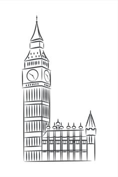 Big Ben London, Black And White Wall Art, Digital Wall, City Art, Decoration, All Print, Wall Decor, Prints, Etsy