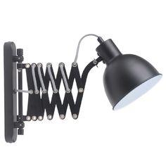 Ścienna LAMPA kinkiet TALARO 8410104 Spotlight metalowa OPRAWA na wysięgniku IP20 harmonijka czarna