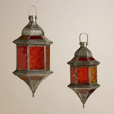 Handcrafted with embossed glass and punched metal, our traditional Warm Sabita Embossed Glass Hanging Lanterns are an intricately detailed addition to your Moroccan Lighting, Moroccan Lanterns, Moroccan Theme, Moroccan Bedroom, Moroccan Interiors, Turkish Lamps, Turkish Tiles, Moroccan Tiles, Orange Lanterns