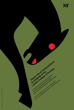 Tom Eckersley, Equus: Visual Interpretations poster promoting an exhibition of student work at the National Theatre, interpreting the play Equus, 1981