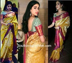 Jhanvi Kapoor in Manish Malhotra saree