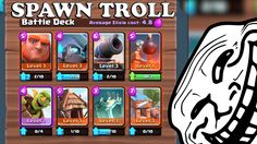 Clash Royale-Spawner Troll Deck!!!-Leveling Troll Cards!!!  YouTube http://ift.tt/1STR6PC