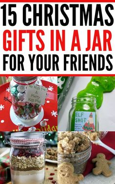 Best DIY Christmas gifts in a jar. Homemade mason jar gifts for him including minibar in a jar, homemade spa gifts in a jar and more awesome ideas. Easy Homemade Christmas Gifts, Mason Jar Christmas Gifts, Christmas Gifts For Him, Mason Jar Gifts, Christmas Diy, Homemade Gifts, Holiday Crafts, Xmas, Cheap Gifts For Boyfriend