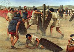 """Roman army - """"Training"""", Seán Ó'Brógáin; La Pintura y la Guerra. Sursumkorda in memoriam"""