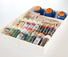 Just like spices, I think I have too many paints for this. Spice drawer organizer for craft storage