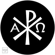 Chi Rho in Green Worship Art Package — Corissa Nelson Chi Rho, Christian Symbols, Christian Art, Church Graphic Design, Greek Alphabet, Large Artwork, Green Backgrounds, Worship, Spiritual