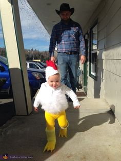 Emily: Our daughter is dressed up as an adorable little chicken. I got the inspiration from Pinterest and created it myself. With the help from a glue gun, some felt and...