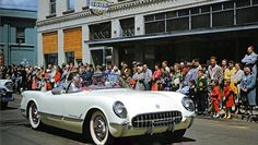 1954 Corvette in a Los Angeles parade