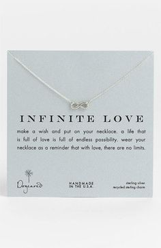 dogeared 'infinite love' reminder Pendant necklace     I WANT THIS SOOOO BADLY!!!!