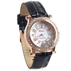 FW-3036   Women's Quartz Wrist Watch with Faux Leather Strap and Rhinestones #watch #wristwatch #womenwatch #girlswatch #quartzwatch #rhinestone #fashion #famousbrand #brandwatch #watchfashion #brand #famous