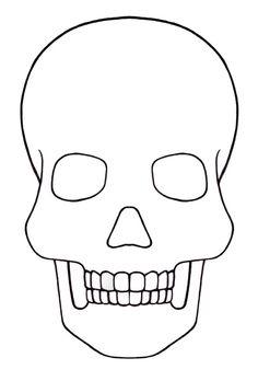 Skull Template mini - Day of the dead - Mexico