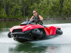 Quadski – Extraordinary All Terrain & Water Vehicle All In One Why should you have to decide whether to get a jet ski or a quad bike when you can have both? The Quadski is simply put, awesomeness defined! Jet Ski, Bmw, Amphibious Vehicle, Quad Bike, Four Wheelers, Water Crafts, Concept Cars, Cars And Motorcycles, Offroad