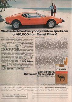 Camel Cigarettes promotional Pantera Sweepstakes