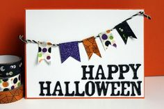 Spooky Handmade Cards and Invitations for Halloween: Make a Halloween Washi Tape Banner Card