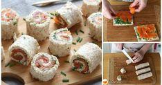 MINI ROLLITOS DE SALMÓN: un aperitivo sencillo y rápido Sushi, Appetizers, Healthy Eating, Cooking, Ethnic Recipes, Yummy Yummy, Mini, Food, Kitchen