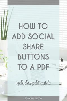 People love sharing things but, you need to make it quick and easy. Adding social share buttons to PDFs is a great way to do this. The video tutorial below will show you how simple this is using Adobe Acrobat Pro. There is also a free Cheat Sheet to download, which includes the step-by-step and the specific URLs you need for Twitter, Linkedin, Google+ and Facebook. Include PDF guide download.
