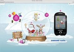 Shake your Xmas with Samsung mobile by Philipp Schlosser, via Behance