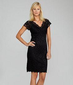 Marina v-neck lace dress -  Available at Dillards.com #Dillards