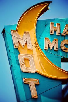 Los Angeles Half Moon Motel Retro Neon Sign  by RetroRoadsidePhoto, $ 35.00
