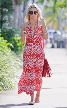 Show Stopper from Kate Hudson's Street Style  Does it get any better than this summery Temperley London jumpsuit? The answer: No way!