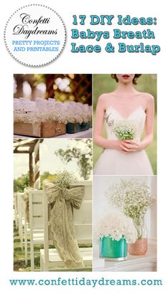 Made for DIY projects, the Baby's Breath wedding theme is an affordable, easy and PRETTY way to create an elegant and romantic ambiance for your wedding day