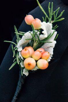 Orange boutonniere | Photo by Vue Photography via http://junebugweddings.com/wedding-blog/elegant-wedding-montaluce-winery/