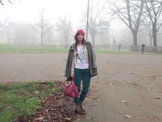 STYLIGHT: Acquista Moda e Abbigliamento online » #parka #pants #green #burgundy #outfit Parka, Taupe, Boards, Style, Fashion, Beige, Planks, Swag, Moda