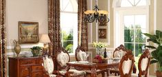American rustic solid wood dining chairs with chenille finish cushions AB-219