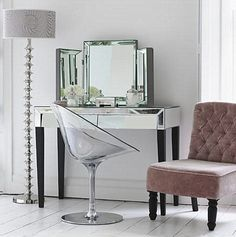 Adding Shine With Mirrored Furniture Love this look