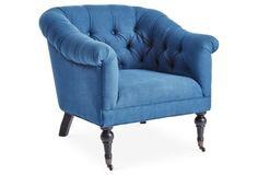 Lorick Club Chair, Blue