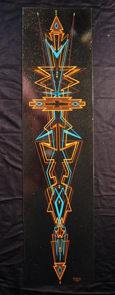 """Fat Daddy's signature """"Angular"""" style pinstriping in a southwestern flavor!"""