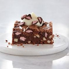 Chocolate Almond Brownies with Cherry Flavored Filled DelightFulls(TM) Allrecipes.com