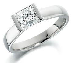 The Princess cut diamond rules! Princess Cut Diamonds, Jewelry Design, Wedding Rings, Engagement Rings, Pretty, Dress Ideas, Sparkles, Wedding Dress, Jewellery