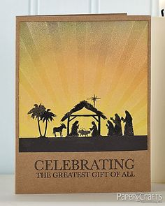 The Greatest Gift Card by Cheiron Brandon by Paper Crafts Photos, via Flickr - Could also reverse sunrays - coming from the star at top (no star in image I have)